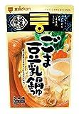 ミツカン 〆まで美味しいごま豆乳鍋つゆストレート 750g×4袋