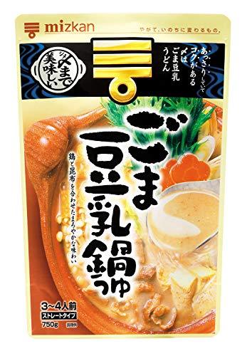 ミツカン 〆まで美味しいごま豆乳鍋つゆストレート 750g×...
