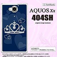 404SH スマホケース AQUOS Xx 404SH カバー アクオス ダブルエックス クラウン 青 nk-404sh-602