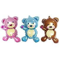 (デイリー スウィート)Daily Sweet  パーティグッズ 飾り アルミ風船 バルーン 可愛い 熊ちゃん 45X27CM 3色セット