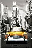 ポスター ニューヨークタクシー№1+アルミフレーム(シルバー)セット PH-0291S