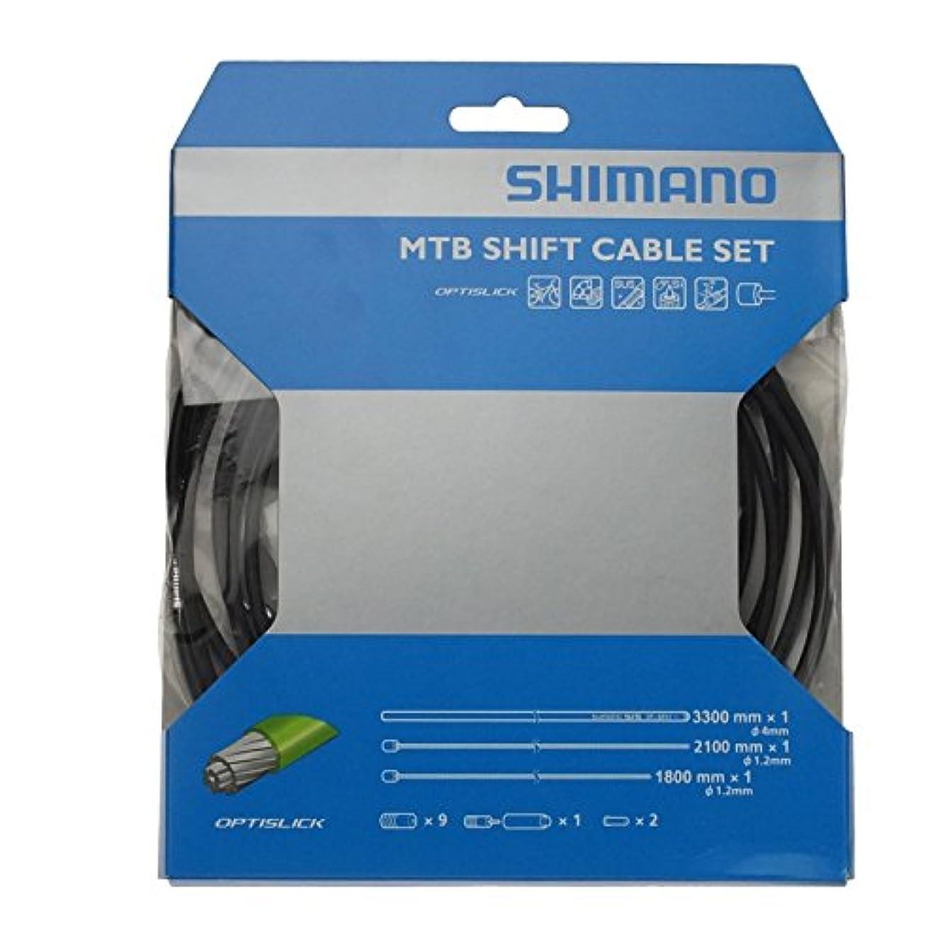 復活させるリラックス批判的シマノ(SHIMANO) MTB用 オプティスリック シフトケーブルセット ブラック Y60198090