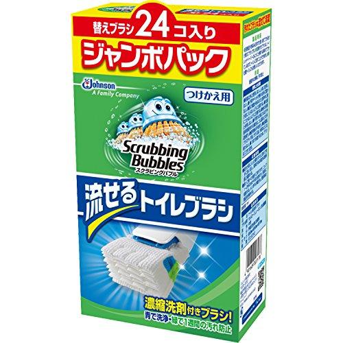 スクラビングバブル トイレ洗剤 流せるトイレブラシ 付替用2...