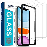 Tech Armor Ballistic Glass Screen Protector for Apple iPhone 11 / iPhone Xr - Case-Friendly Tempered Glass [3-Pack],...