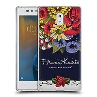 Official Frida Kahlo ブルーム レッド・フローラル ソフトジェルケース Nokia 3