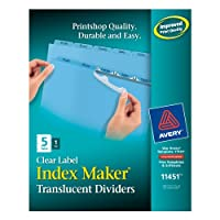Index Maker Clear Label Punched Dividers, Blue 5-Tab, Letter (並行輸入品)