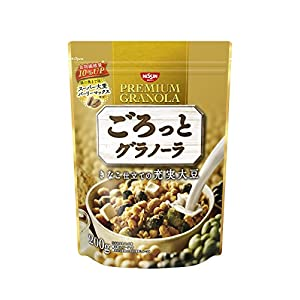 日清シスコ ごろっとグラノーラきなこ仕立ての充実大豆 200g×8袋
