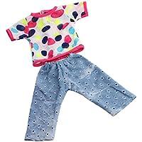 Lovoski スーツ  シャツ リップジーンズ 服 人形服 アクセサリー 18インチアメリカガールドール用
