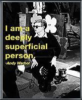 ポスター アンディ ウォーホル I am a deeply superficial person 額装品 アルミ製ベーシックフレーム(ブラック)