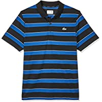 Lacoste Men's Stripe Polo, Black/Inkwell