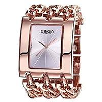 フェノコファッションレジャー時計新しい女性の腕時計ビッカーズスクエアダイヤルクォーツ時計ファッションチェーンストラップ