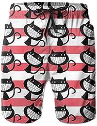 黒猫 メンズ サーフパンツ 水陸両用 水着 海パン ビーチパンツ 短パン ショーツ ショートパンツ 大きいサイズ ハワイ風 アロハ 大人気 おしゃれ 通気 速乾