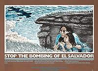 歴史的なポスター。エル・サルバドルの爆撃をやめましょう。 アンティークビンテージファインアートリプリント 36in x 24in 4050616_3624