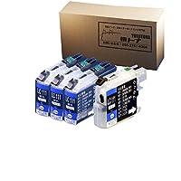 LC111PGBKx3+ブラック用洗浄液x1 互換インクタンク 顔料(純正同様) ブラック3本とブラック用洗浄液1本セット ブラザー用 対応機種:MFC-J980DN/DWN/MFC-J890DN/DWN/MFC-J870N/MFC-J820DN/DWN MFC-J720D/DW/DCP-J952N/DCP-J752N/DCP-J552N 【ヨコハマトナー】