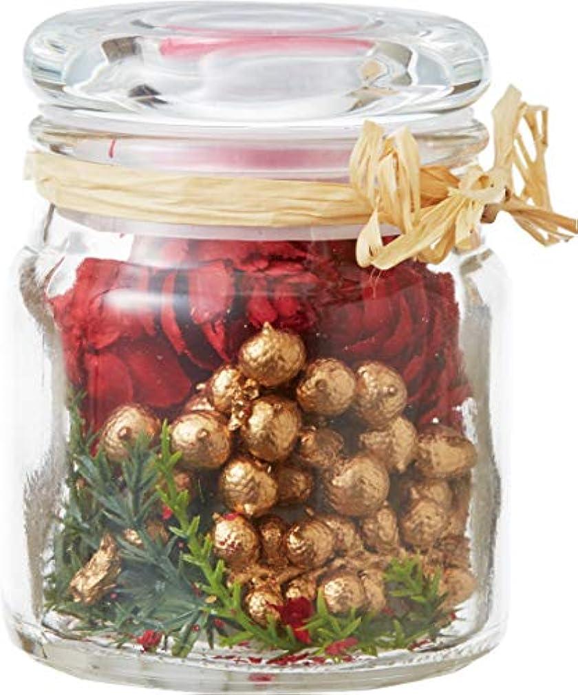 事前面倒時期尚早カメヤマキャンドルハウス クリスマスボヌールグラスポプリ ルージュドノ 1個