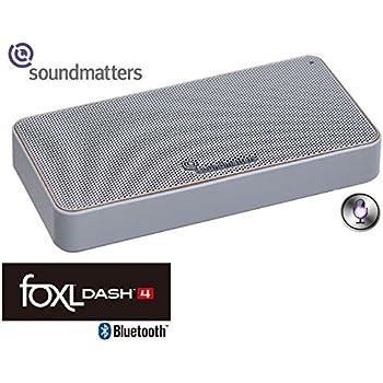 【NET限定】Soundmatters Bluetoothモバイルスピーカー[siri対応] foxL DASH4 ACアダプター付【日米同時発売/国内正規品】 (クラウディホワイト)