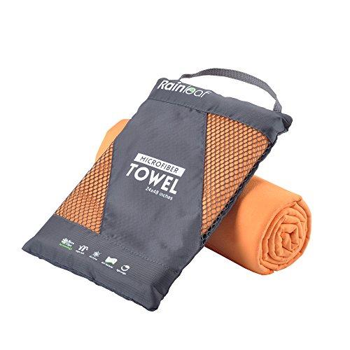 RainLeaf 速乾タオル 超吸水 抗菌防臭 マイクロファイバー スポーツタオル(多目的 スポーツ、旅行、ビーチ、プール、キャンプ、ジム、バスタオル)