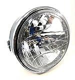 マルチ リフレクター ダイヤモンド カット ヘッド ライト ハロゲン ランプ レンズ Ф180 ゼファー 400 バリオス ZR400 CB400SF VTR250 等 汎用 パーツ 社外品 カワサキ ホンダ ヤマハ