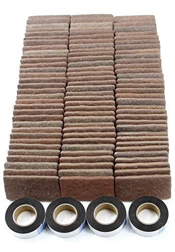 RoomClip商品情報 - MB-3ダークブラウン 軽量レンガかるかるブリック Sサイズ(ミニサイズ) 100枚入 屋内用両面テープ付