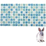 """Guinea Pig Hamster Cooling Stone Mat Pad Summer Small Animal Rabbit Chinchilla Cool Bed House (XL(5.7""""*11.7""""), Blue)"""