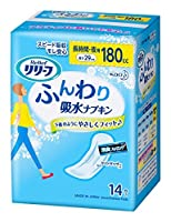 リリーフ ふんわり吸水ナプキン 長時間・夜用 (180cc) 14枚 Japan