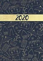 2020: Tageskalender fuer 2020 mit 1 Tag pro Seite mit Jahres und Monatsuebersicht | Tracking von Gewohnheiten | Din A4 | VOL 56