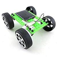 exiron 1pcsミニソーラーおもちゃDIY車子供教育ガジェット趣味パズルIQロボット