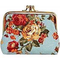 小銭入れ がま口 2層仕様 財布 レディース プリント 花柄 ミニ財布