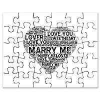 CafePress–Marry Me、スイートハート–ジグソーパズル、30個。