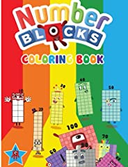 Numberblocks Coloring Book: Numberblocks 1 to 100 - High Quality NumberBlock Coloring Pages For Children