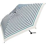 ワールドパーティー(Wpc.) 雨傘 折りたたみ傘 ブルー 50cm 超軽量90g  カラーボーダー ミニ AL-021 BL