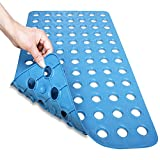 Mayshine 滑り止め バスマット 転倒防止 介護 浴槽用 吸盤付き 匂いなし 防カビ ゴム製 40x70cm (ブルー)