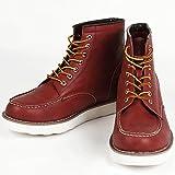 9cmアップ シークレットシューズ シークレットブーツ メンズ 履くだけで背が高くなる靴 メンズブーツ ワークブーツ メンズシューズ kk5-500 ワインレッド 26.0cm