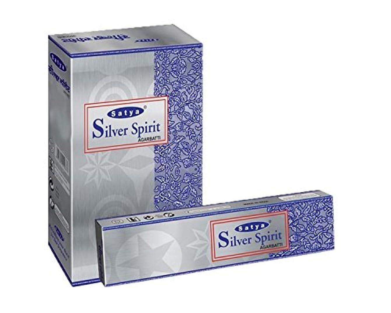 カプラー揺れるヒュームSatyaシルバーSpirit Incense Sticksボックス240 gmsボックス