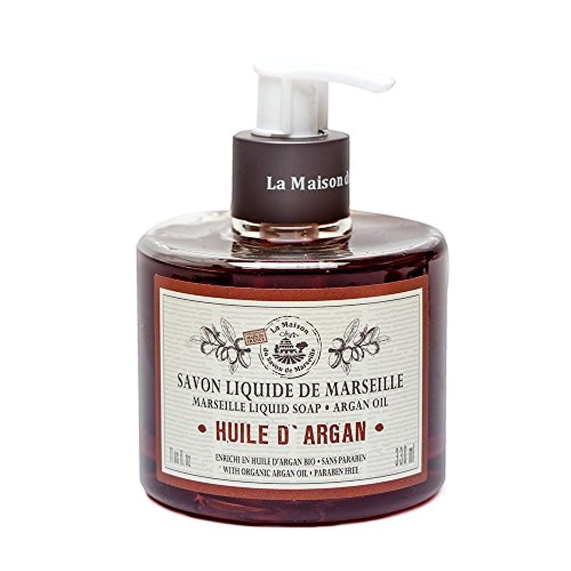 スパイラルアクチュエータリンスSavon de Marseille Liquid Soap,Organic Argan oil 330ml