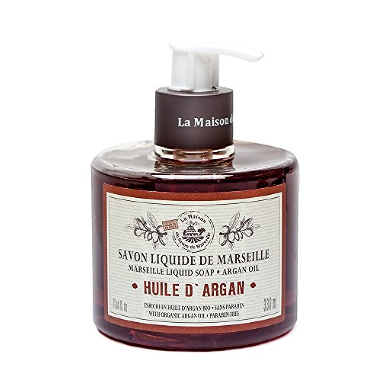 無駄に辞任するスリムSavon de Marseille Liquid Soap,Organic Argan oil 330ml