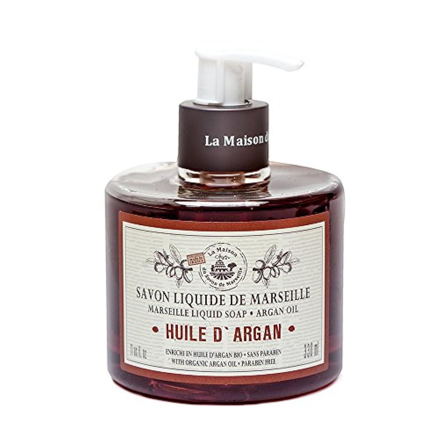 震えるすばらしいですエチケットSavon de Marseille Liquid Soap,Organic Argan oil 330ml