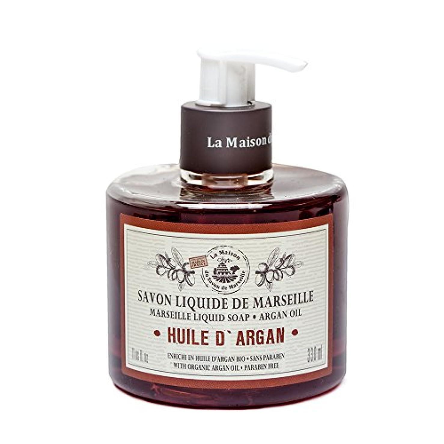 吐き出すフェザー計画Savon de Marseille Liquid Soap,Organic Argan oil 330ml