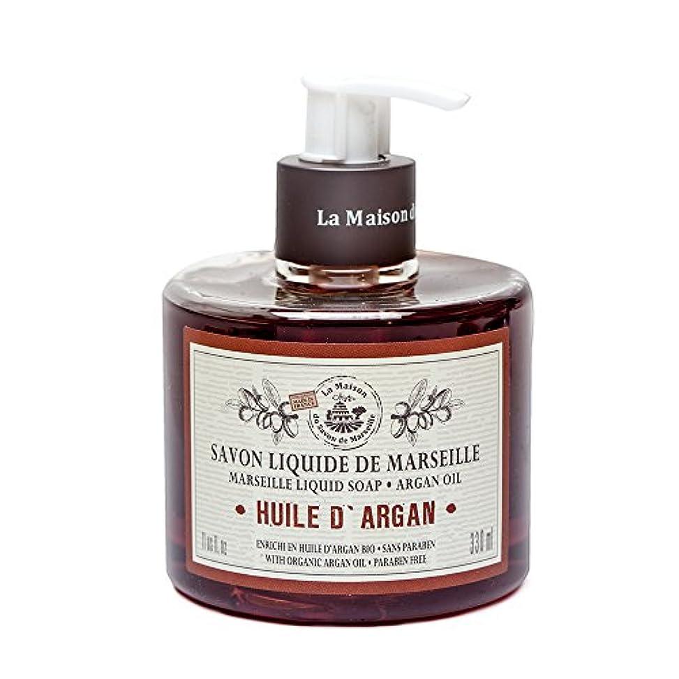 治療リサイクルするレールSavon de Marseille Liquid Soap,Organic Argan oil 330ml