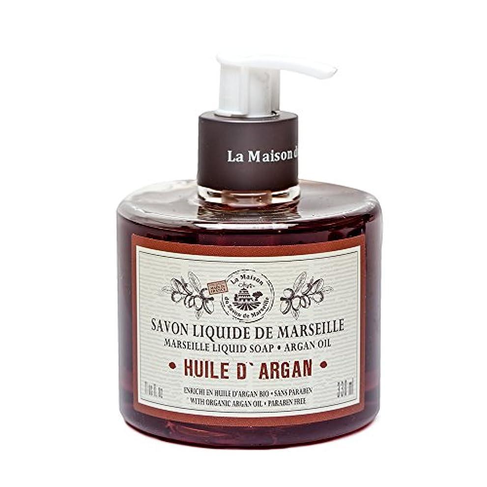 ミュージカル美的研磨剤Savon de Marseille Liquid Soap,Organic Argan oil 330ml