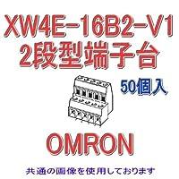 オムロン(OMRON) XW4E-16B2-V1 (50個入) プリント基板用端子台 2段型端子台 16極 (端子ピッチ3.81mm) NN