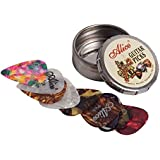 Set of 12x Alice Guitar Picks - Variety Pack - Celluloid - Small Round Tin