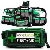165 PCS Handy Survival First Aid Kit自宅、オフィス、キャンプ、職場、車、旅行用のラベル付きコンパートメントを備えた空の緊急外傷バッグ医療キット,Bagandmedicalkits