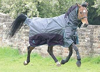 (マスタ) Masta 馬用 Fieldmasta 100g ターンアウト ラグ 固定ネック 馬着 乗馬 ホースライディング (5フィート) (ブルー/グレー)