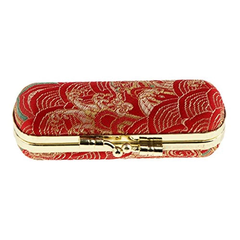 変数起きろバイオリンFenteer 化粧ポーチ 口紅ホルダー リネンカバー リップスティック リップグロス 収納ケース ミラー付き レトロ 可愛い 約10x3x3cm ランダム色 - #2