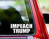 """Impeach Trumpビニールデカールステッカー7"""" x 3"""" POTUSドナルド・トランプ シルバー MT3000639-silver"""