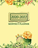 2020-2022 Monthly Planner: Nifty Cactus & Succulents 3 Year Monthly Organizer & Schedule Agenda - Pretty 3 Year Calendar with 36 Months Spread View, Inspirational Quotes & Notes