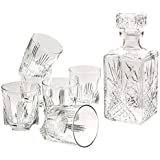 Selecta Whiskey Set of 6 Glasses and Italy Gift Claret jug