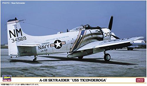 ハセガワ 1/72 アメリカ海軍 A-1H スカイレイダー USS タイコンデロガ 2機セット プラモデル 02262