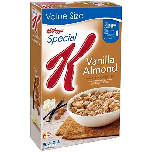 ケロッグ スペシャル K シリアル、バニラ アーモンド、18.80 オンス Special K Kellogg's Cereal, Vanilla Almond, 18.80 Ounce